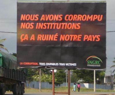 Panneau publicitaire de lutte contre la corruption (c) Fabrice Djaha/Abidjan live News